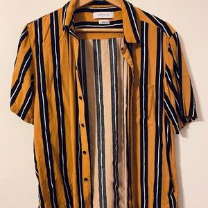Urban Outfitters Yellow Stripe Shirt